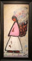 DeGrazia - Woman with Flower Basket