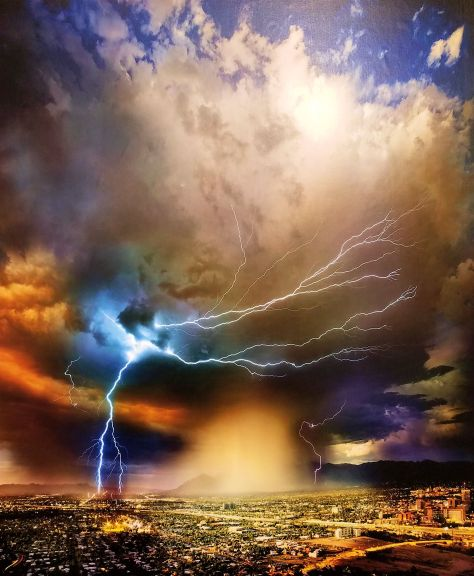 William Lesch - Light Storm Over Tucson