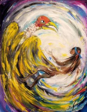 DeGrazia - Eagle & Indian