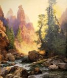 SD MOA - Belo the Towers of Tower Falls - Yellowstone Park by Thomas Moran - Copy