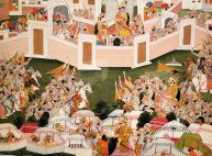 SD MOA - Krishna with His Army Within a Walled City by Purkhu - Copy