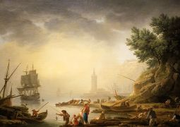 SD MOA - Mediterranean Seaport with Fisherrmen by Claude Joseph Vernet - Copy