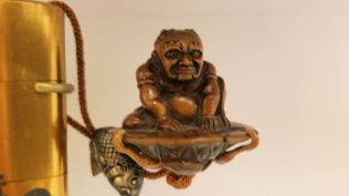 SD MOA - Painted Snuff Bottle Part 2 - Seated Bhudda Attached