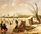 SD MOA - Winter Landscape with Skaters by Esaisa van de Velde