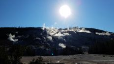 Yellowstone - On the Way to Mammoth Hot Springs - Distant Geyser Basins 2