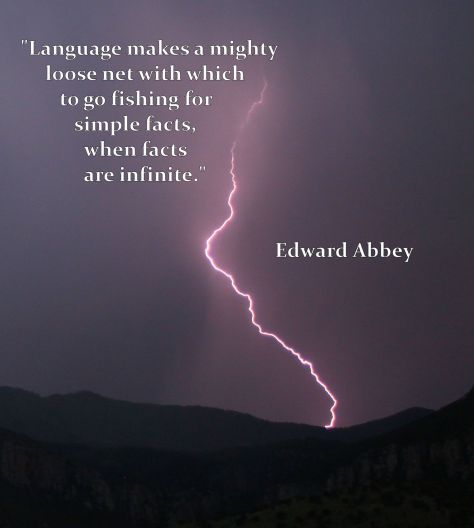 Lightening + Edard Abbey Quote