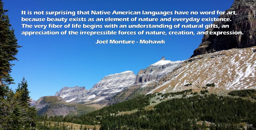 Montana with Monture Quote - Ctn Divide - Logan Pass