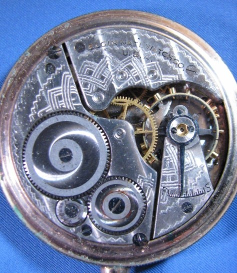 1921 elgin watch 7 jewel - inside